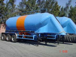 h-3 Axles Semi trailer Cement silo 30 - 34 m3 (single tire)